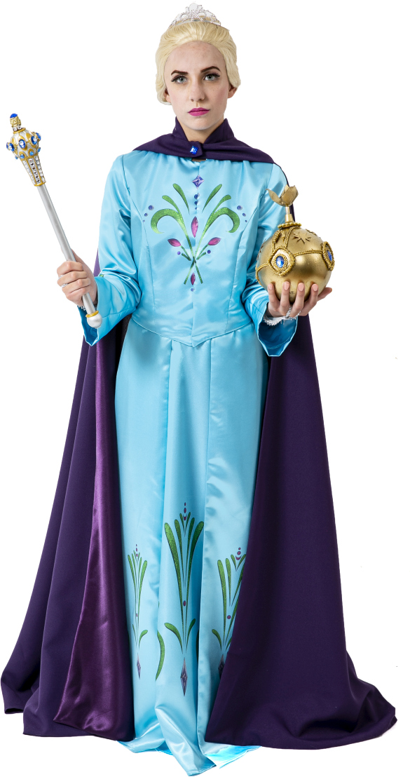 Frozen Elsa in Coronation Dress and Cape Rental Costume