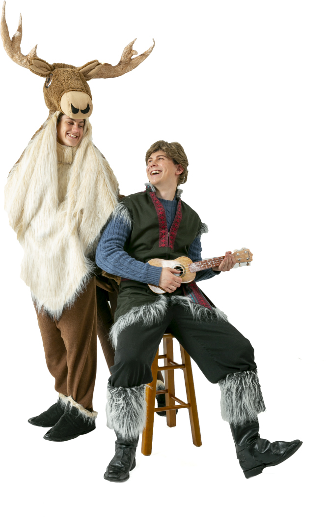 Frozen Kristoff and 4 Legged Sven Rental Costumes