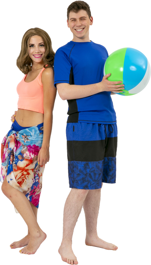 Mamma Mia Male and Female Beach Rental Costumes