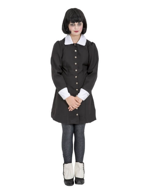 Rental Costumes for The Addams Family - Wednesday Addams in Black Dress