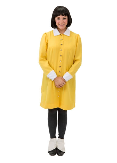 Rental Costumes for The Addams Family - Wednesday Addams in Yellow Dress