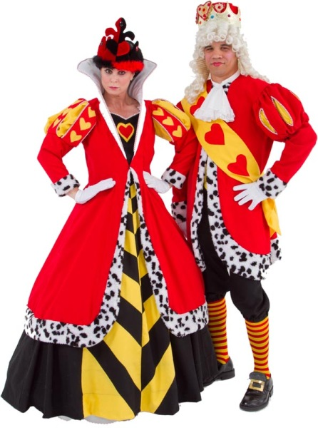 Rental Costumes for Alice in Wonderland - Queen of Hearts, King of Hearts