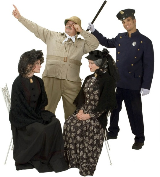 Rental Costumes for Arsenic and Old Lace - Abbey Brewster, Martha Brewster, Teddy Brewster, Police Officer Brophy/O'Hara/Klein/Rooney