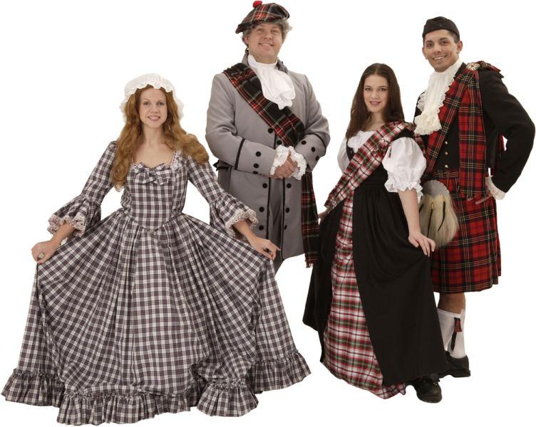 Rental Costume for Brigadoon - Jean MacLaren, Mr. Lundie, Fiona MacLaren, Charlie Dalrymple