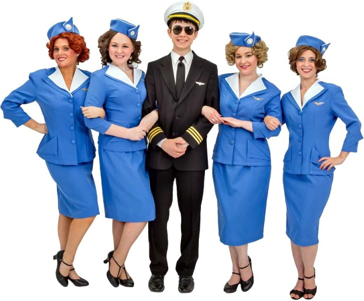 Rental Costumes for Catch Me If You Can -  Frank Abagnale, Jr. and Flight Stewardesses