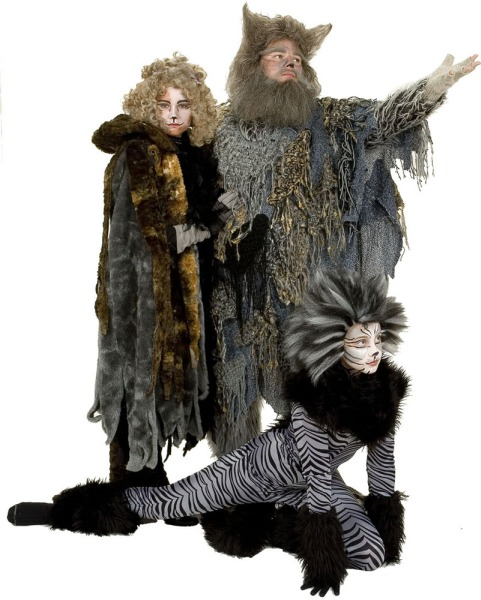 Rental Costumes for Cats - Grizabella, Old Deuteronomy, A Chorus Cat