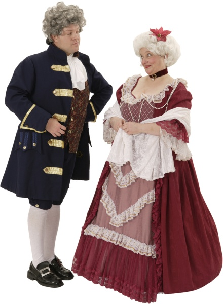 Rental Costumes for A Christmas Carol - Fezziwig and Mrs. Fezziwig  sc 1 st  The Costumer & A Christmas Carol Costume Rentals