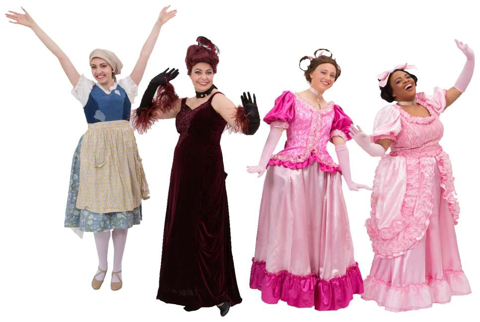 Rental Costumes for Cinderella Broadway Revival Ella & Step Family