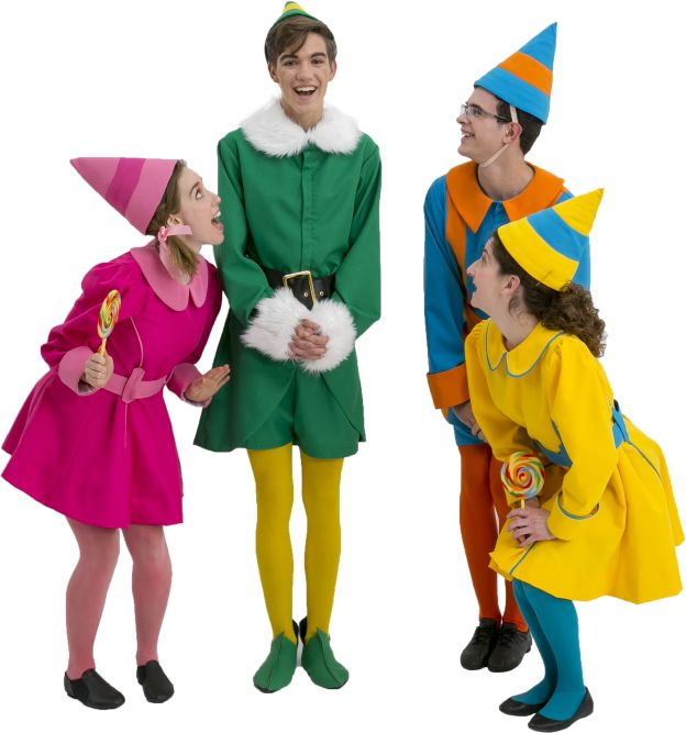 Elf the Musical Jovie, Buddy, and Elves