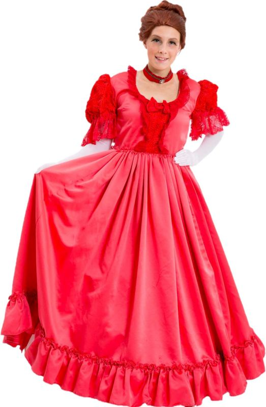 Time Period Red Victorian Dress