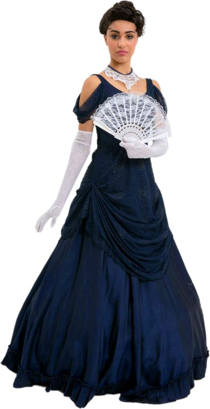 Time Period Blue Edwardian Dress (Neoclassical/Directoire)