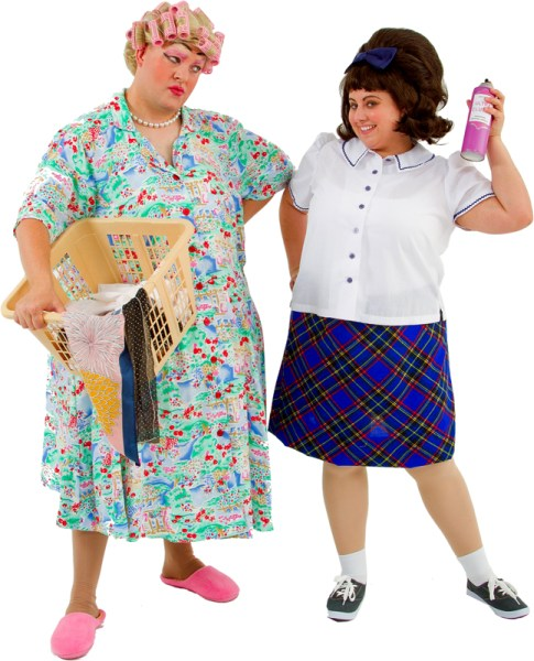 Rental Costumes for Hairspray - Edna and Tracy Turnblad