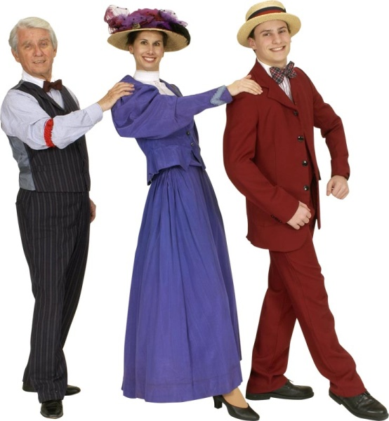 Rental Costumes for Hello Dolly - Horace Vandergelder, Irene Malloy and Ambrose Kemper