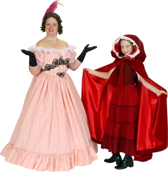 Rental Costumes for Into the Woods - Cinderella's Wicked Stepmother, Little Red Riding Hood