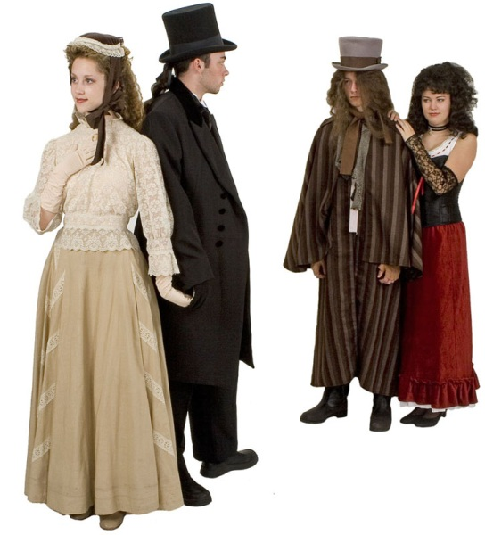 Rental Costumes for Jekyll and Hyde the Musical - Emma Carew, Dr. Henry Jekyll, Mr. Edward Hyde, Lucy Harris