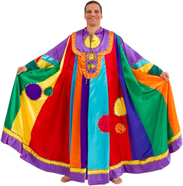 Rental Costumes for Joseph and the Amazing Technicolor Dreamcoat - Joseph in his coat of many colors