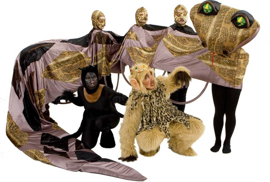 Rental Costumes for The Jungle Book - Kaa the Python, Bagheera the Panther, King Louie the Monke