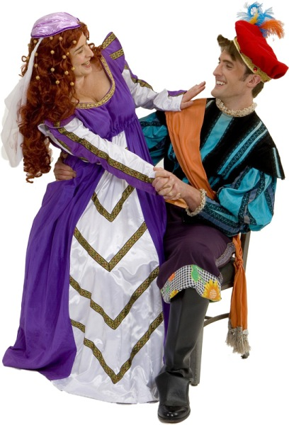 Rental Costumes for Kiss Me Kate - Lilli Vanessi as Katharine, Fred Graham as Petruchio