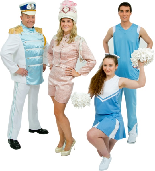 Rental Costumes for Legally Blonde - Band Member, Elle Woods, Cheerleaders