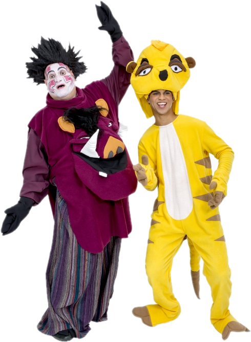 Rental Costumes for The Lion King - Pumbaa and Timone