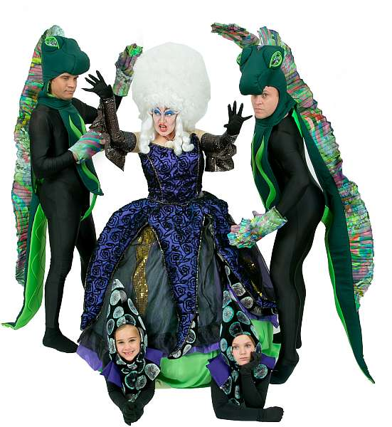 Rental Costumes for Disney's The Little Mermaid - Ursula, Tentacles, Flotsam, Jetsam