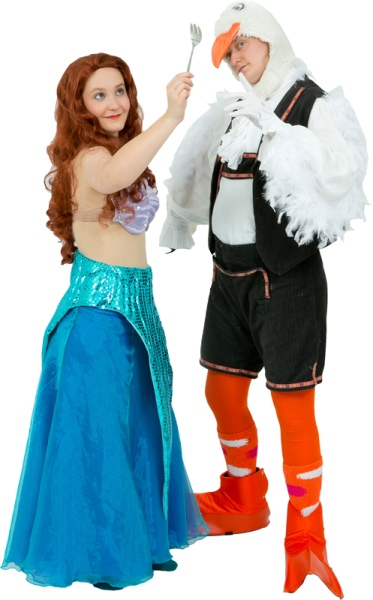 Rental Costumes for Disney's The Little Mermaid - Ariel, Scuttle