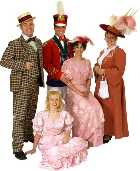 Rental Costumes for The Music Man - Marcellus Washburn, Harold Hill, Zaneeta Shinn, Marian Paroo, Eulalie Shinn
