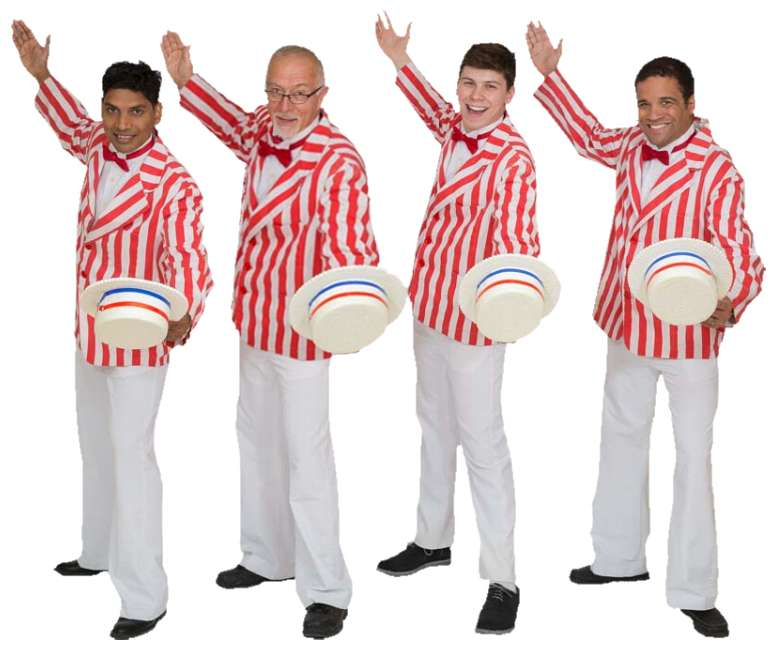 Rental Costumes for The Music Man Striped Jackets