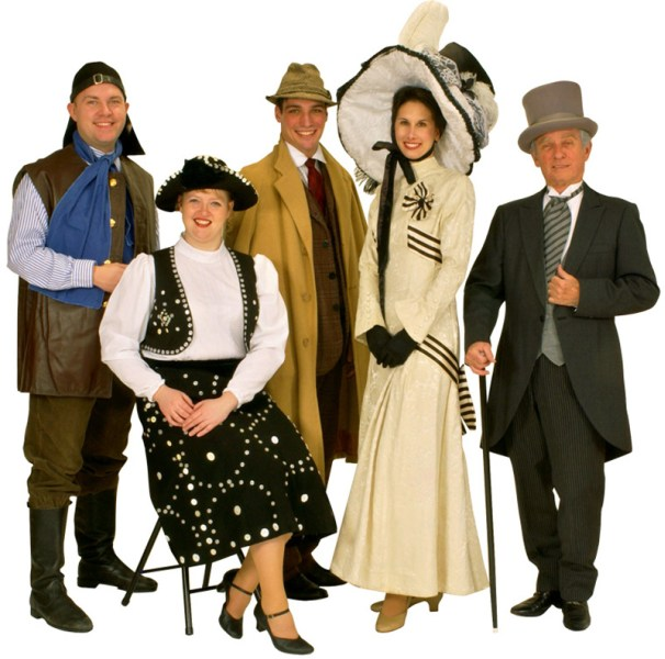 Rental Costumes for My Fair Lady - Alfred Doolittle, Female Pearlie, Professor Henry Higgins, Eliza Doolittle and Colonel Pickering