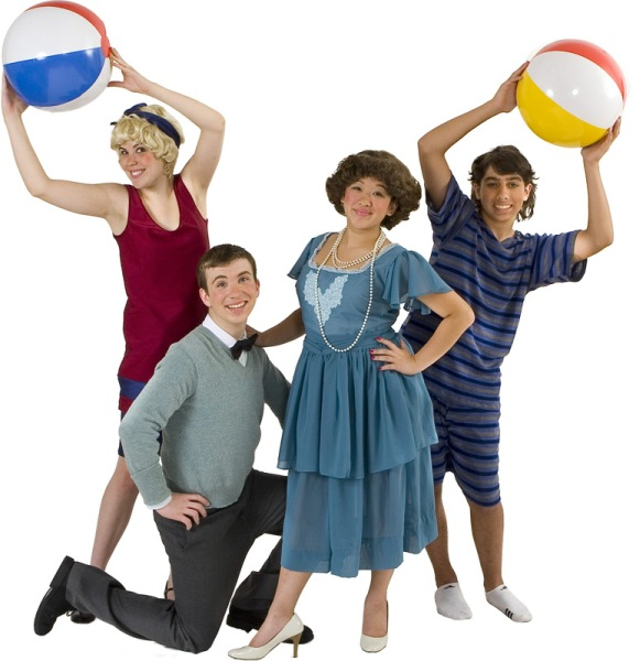 Rental Costumes for No, No, Nanette - Chorus in their bathing ensembles, Jimmy Smith, Sue Smith