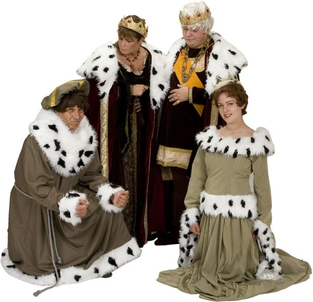 Rental Costumes for Once Upon a Mattress - Prince Dauntless, King Sextimus, Queen Aggravain, Princess Winifred