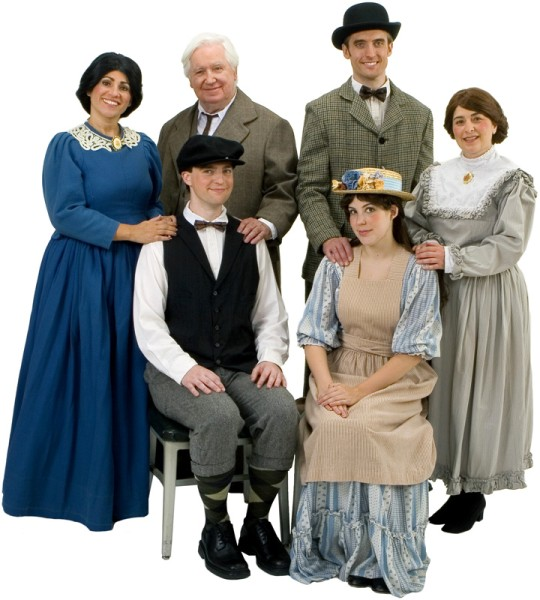 Rental Costumes for Our Town - Mrs. Julia Gibbs, Mr. Frank Gibbs, George Gibbs, Mr. Charles Webb, Mrs. Myrtle Webb, Emily Webb