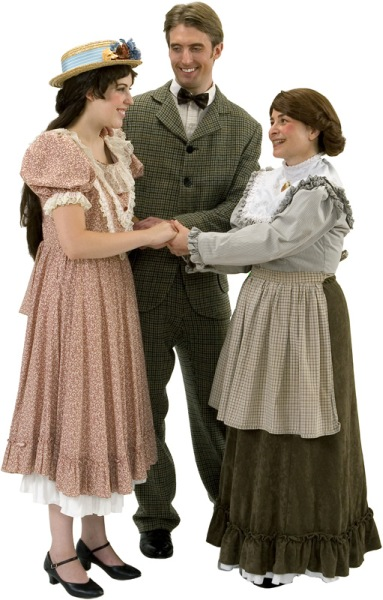 Rental Costumes for Our Town - Emily Webb, Mr. Charles Webb, Mrs. Soames