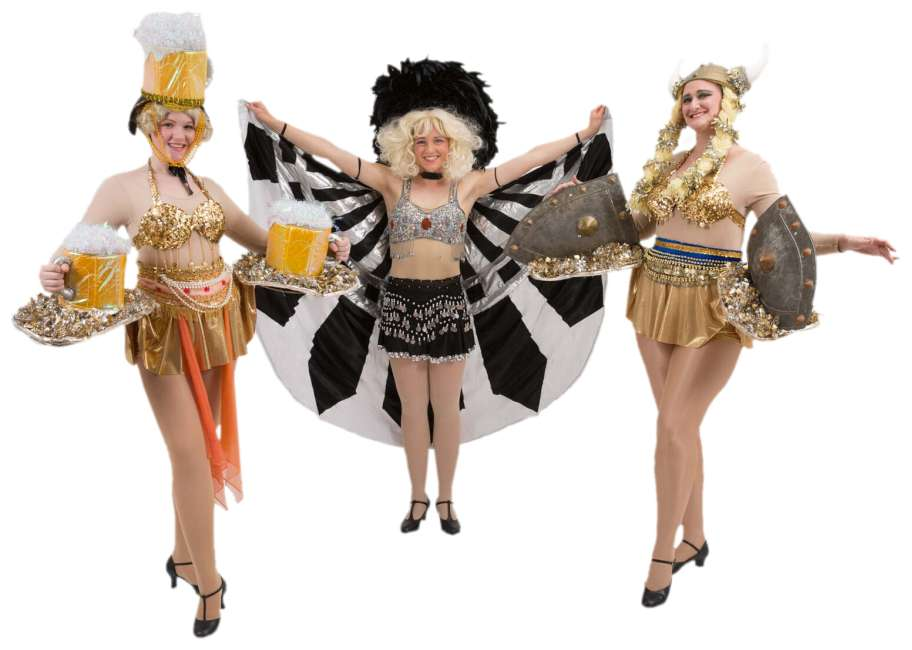 Rental Costumes for The Producers Show Time Girls Beer/Viking