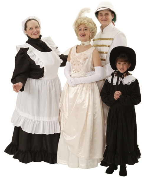 Rental Costumes for The Secret Garden - Martha, Rose Lennox, Captain Labert Lennox, Mary Lennox