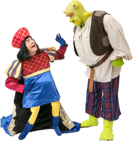 Rental Costumes for Shrek the Musical - Lord Farquaad and Shrek
