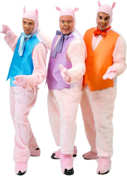 Rental Costumes for Shrek the Musical - Three Little Pigs