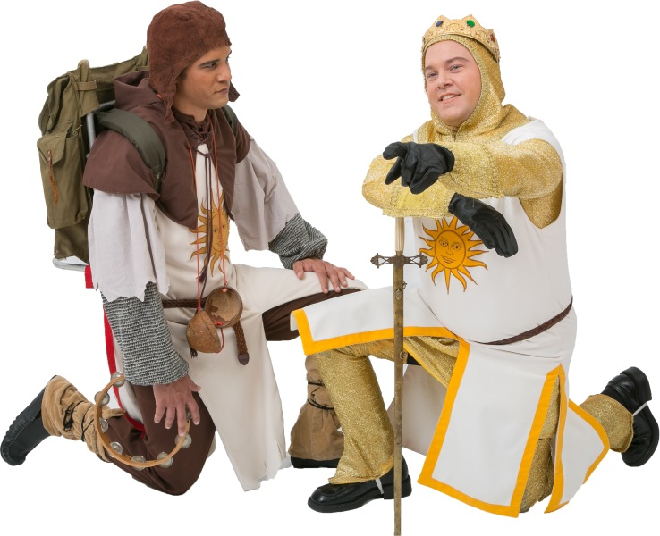 Rental Costumes for Spamalot – Patsy and King Arthur