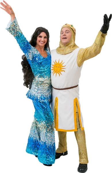 Rental Costumes for Spamalot – Rental Costumes for Spamalot – The Lady of the Lake in Showgirl Style Jumpsuit