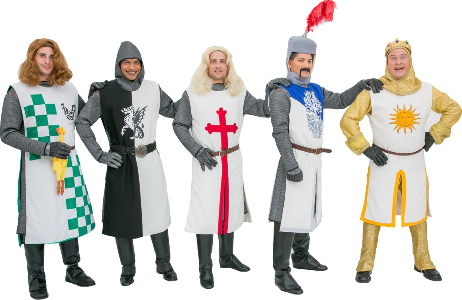 Rental Costumes for Monty Python's Spamalot - Knights of the Round Table