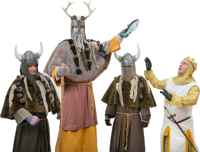 Rental Costumes for Monty Python's Spamalot - Knights Who Say Ni and King Arthur