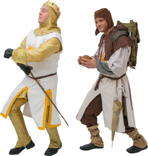 Rental Costumes for Monty Python's Spamalot - King Arthur and Patsy