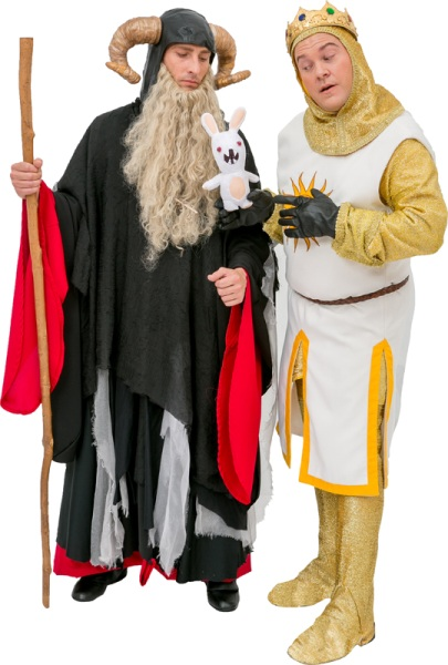 Rental Costumes for Monty Python's Spamalot - Tim the Enchanter and King Arthur