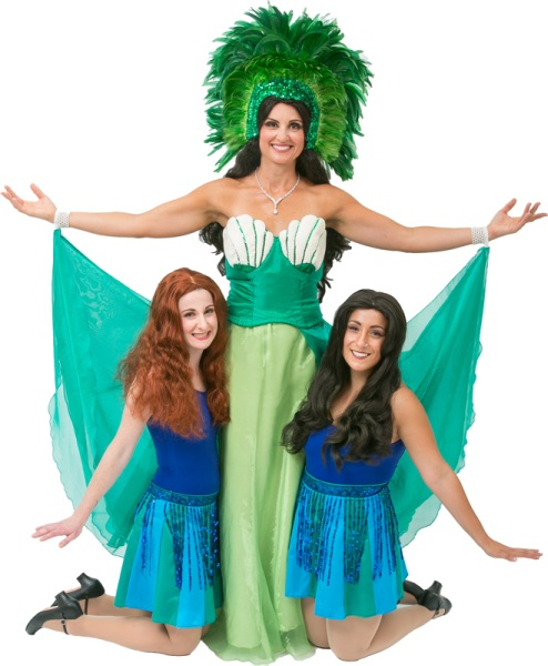 Rental Costumes for Monty Python's Spamalot - The Lady of the Lake and her Laker Girls