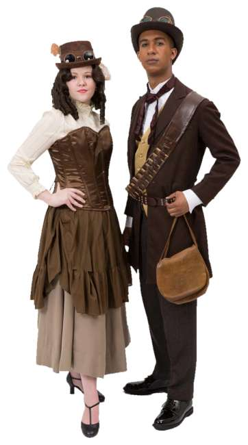 Rental Costumes for Steampunk Man & Woman