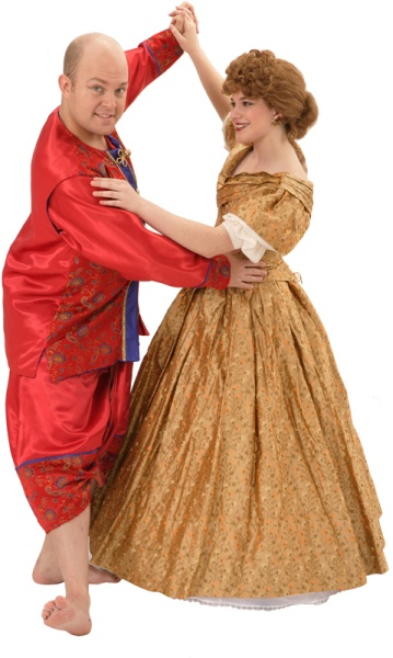 Rental Costumes for The King and I - King of Siam, Anna Leonowens in her ballgown