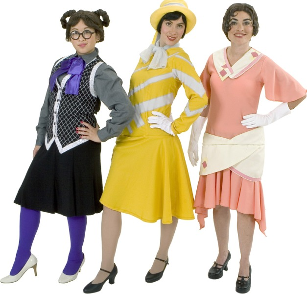 Rental Costumes for Thoroughly Modern Millie - Stenographer, Millie Dillmount, Priscilla Girl